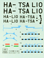 HAD 144045 1/144 Decal C-47/Li-2 MALEV (for EAST.EXPRESS kit)