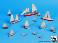 BlackDog S70006 Sailing boats accessories set 1:700