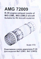 Amigo Models AMG 72009 1/72 R-35 exhaust nozzle for MiG-23ML/MLD (RVA)