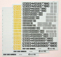 Tally-Ho DECT72010 1/72 USAF Code Letters (3 sheets, re-edition)