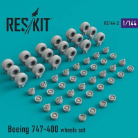Reskit 14402 1/144 Boeing 747-400 wheels (DRAG/HAS/REV)