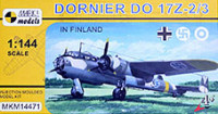 Mark 1 Model MKM-14471 1/144 Dornier Do 17Z-2/3 in Finland (4x camo)