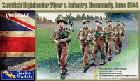 Gecko Models 35GM0006 Scottish Highlander Piper & Infantry, Normandy, June 1944 1/35