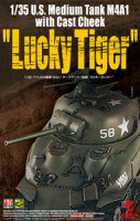 Asuka Model 35-035 M4A1 with Cast Cheek `Lucky Tiger` 1:35
