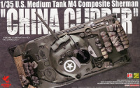 Asuka Model 35-034 M4 Composite Sherman `China Clipper` 1:35