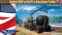 Gecko Models 35GM0018 British ATMP w/SLLPT & Drop Drum Trailer 1/35
