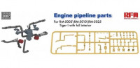 RFM Model RM-2007 Engine pipeline parts for RM-5003 RM-5010 RM-5025 1:35