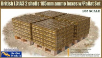 Gecko Models 35GM0020 British L31A3 2 Shells 105mm Ammo Boxes w/Pallat Set  1/35
