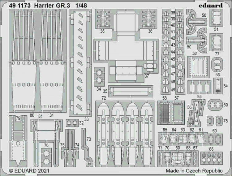 Eduard 491173 SET Harrier GR.3 (KIN) 1/48