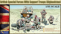 Gecko Models 35GM0023 British Special Forces with Support Troops (Afghanistan) 1:35