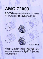 Amigo Models AMG 72003 1/72 RD-7M engine for Tu-22K (TRUMP)