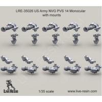 LiveResin LRE35026 1:35 US Army NVG PVS 14 Monocular with mounts