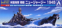 Aoshima 009338 US Navy battleship New Jersey 1945 1:2000