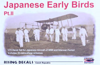 Rising Decals RIDE72077 1/72 Japanese Early Birds Part II. (10x camo)