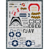 Foxbot 48-060 North American P-51 Mustang Nose art, Part 1 1/48