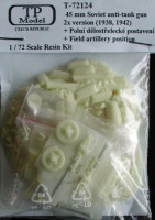 TP Model TPMO72124 1/72 45mm Sov. Anti-tank gun+Field Artilery Posit.