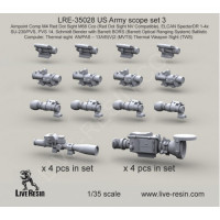 LiveResin LRE35028 1:35 US Army scope set 3