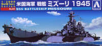 Aoshima 009345 US Navy battleship Missouri 1945 1:2000