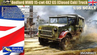 Gecko Models 35GM0027 Bedford MWD 15-cwt 4x2 GS Truck w/Canvas Cover 1/35