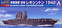 Aoshima 009369 US Navy aircraft carrier Lexington 1942s 1:2000