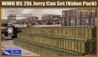 Gecko Models 35GM0036 WW II US 20L Jerry Can Set (Value Pack) 1/35