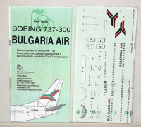 BOA Decals 14403 1/144 Decals Boeing 737-300 Bulgaria Air (MINICR.)