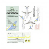 BOA decals 14406 for Boeing 737-300 Ukraine International Airlines 1/144