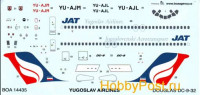 BOA decals 14435 for DOUGLAS DC-9 Yugoslav Airlines 1/144