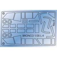 Bronco AB3510 Piper L4H canopy masking Sheet 1:35