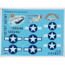 "Foxbot 72-024 North American B-25C/D Mitchell ""Pin-Up Nose Art and Stencils"" Part # 2 1/72"