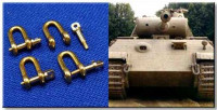 RB Model 07782144 Shackles (4 pcs) Used in different military vehicles, especially in Panther 1:35