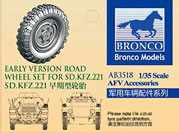 Bronco AB3518 Early version road wheel set for sd.kfz.221 1:35