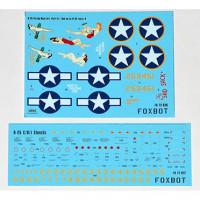 "Foxbot 72-026 North American B-25C/D Mitchell ""Pin-Up Nose Art and Stencils"" Part # 4 1/72"
