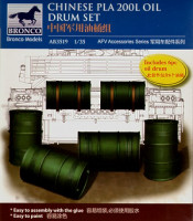 Bronco AB3519 Chinese pla 200L oil drum set 1:35