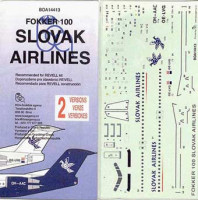 BOA Decals 14413 1/144 Decals Fokker 100 Slovak Airlines (REV)