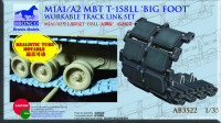 Bronco AB3522 M1A1/A2 mbt t-158ll 'big foot'workable track link set 1:35