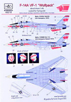 HAD 48218 1/48 Decal F-14A VF-1 'Wolfpack' (TAM)