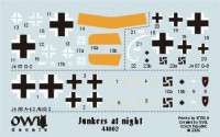 OWL Decals OWLD44002 1/144 Junkers at night (decals)