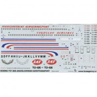 BOA Decals 14420 1/144 Decals Boeing 737-300 Jugoslov.aerotransport