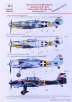 HAD 144046 1/144 Decal Bf 109G-6,Ju-87 B-2, Fw-190 F-8 Part 1