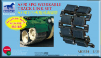 Bronco AB3524 AS 90spg workable track link set 1:35