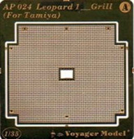 Voyager Model AP024 Photo Etched set for Leopard 1 Grill (For TAMIYA)