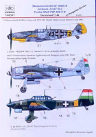 HAD 144047 1/144 Decal Bf 109G-6,Ju-87 B-2, Fw-190 F-8 Part 2
