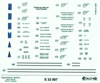 Tally-Ho DECTS3207 1/32 S.Spitfire-Merlin Engined Stencils