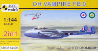 Mark 1 Model MKM-14498 1/144 DH Vampire FB.9 'Tropical Fighter' (2-in-1)