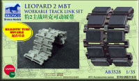 Bronco AB3528 LEOPARD 2mbt workable track link set 1:35