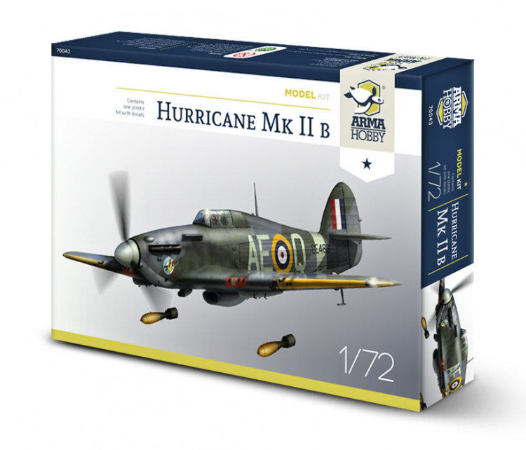 Armada Hobby 70043 Hurricane Mk IIb Model Kit (2x camo) 1:72
