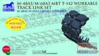 Bronco AB3529 M-48A5/M-60A3 mbt t-142 workable track link set 1:35