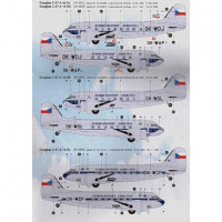 BOA Decals 14432 1/144 Decals DC-3 Czechoslovak Airlines (MINICR.)