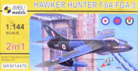 Mark 1 Model MKM-14479 1/144 Hawker Hunter F.6A/FGA.9 (4x camo, 2-in-1)